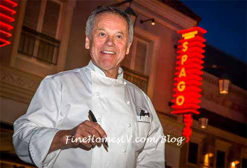 Wolfgang Puck Signs Cookbook at SPAGO