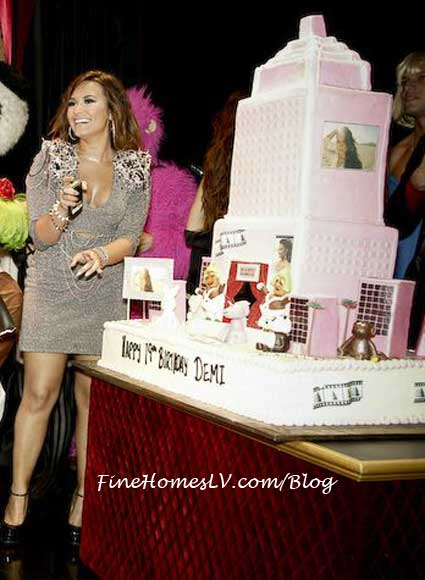 Demi Lovato and Skyscraper Cake