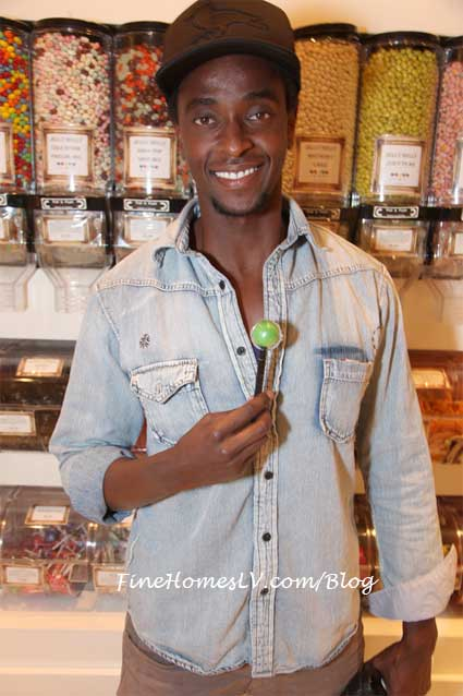 Edi Gathegi With Sugar Factory Couture Pop