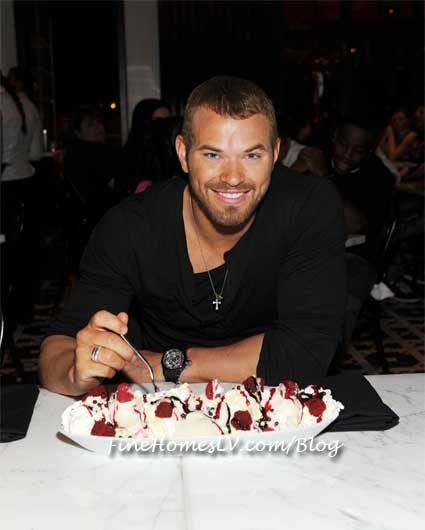 Kellan Lutz With Red Velvet Sundae