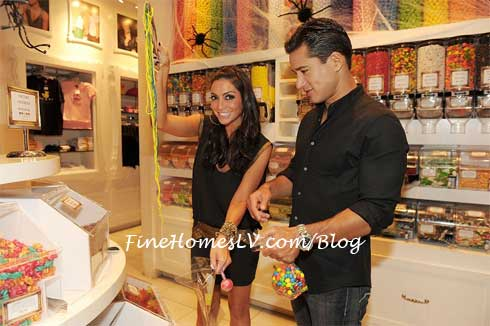 Mario Lopez and Courtney Mazza at Sugar Factory