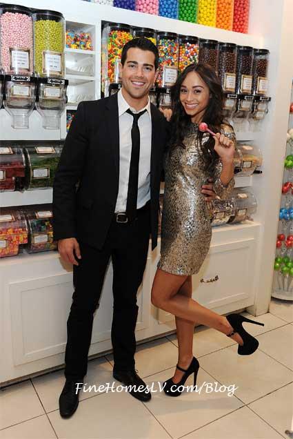 Jesse Metcalfe and Cara Santana at Sugar Factory
