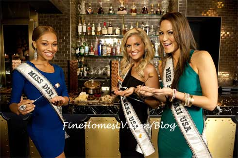 Miss USA 2012 Contestants at Chocolate Lounge
