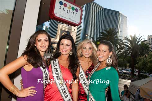 Miss USA 2012 Contestants at Sugar Factory