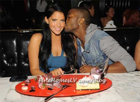 Ray J Kisses Olivia Alvarez