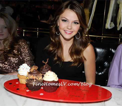 Aimee Teegarden at Sugar Factory