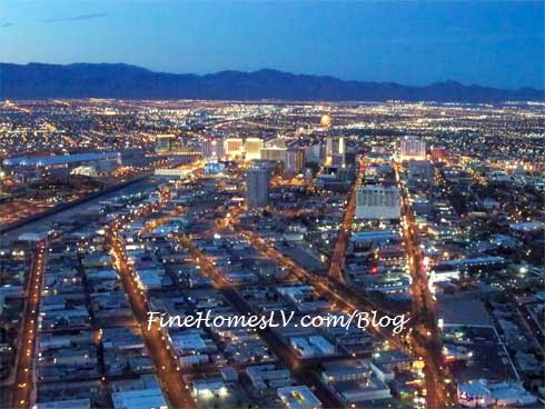 Downtown Las Vegas Overhead View
