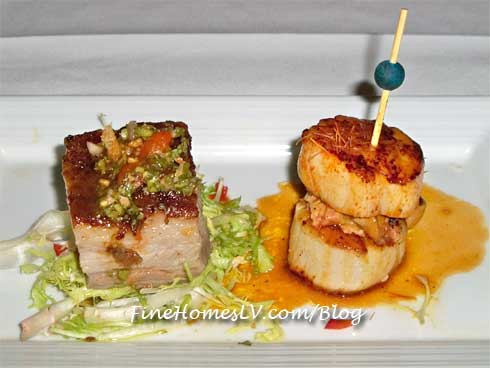 Pork Belly and Pan Seared Sea Scallops