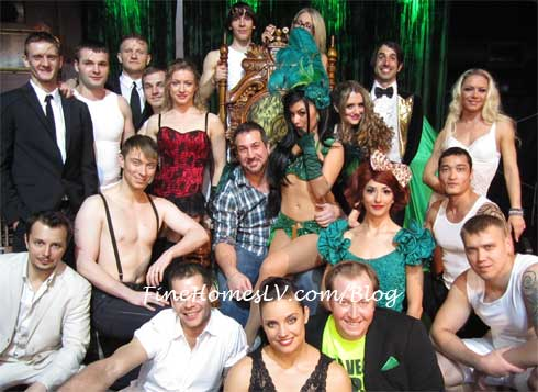 Joey Fatone and ABSINTHE Cast