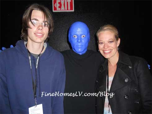 Jeri Ryan and Blue Man Group