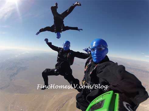 Blue Man Group Skydiving