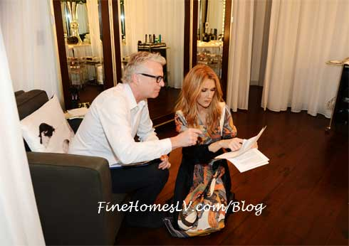 Celine Dion In Dressing Room