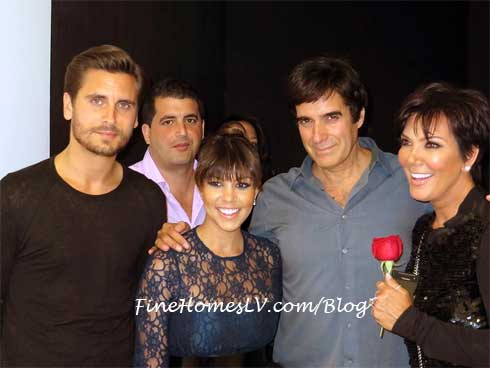 Scott Disick, Kourtney Kardashian and David Copperfield
