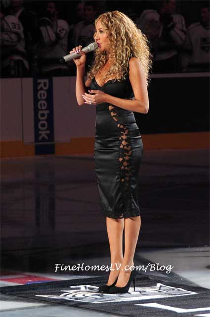 Lorena Peril Sings at LA Kings Game