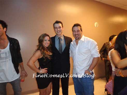 Sabrina Bryan, Rob Marnell and Joey Fatone