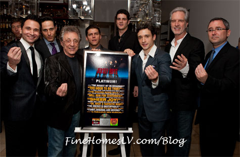 Jersey Boys Platinum Record