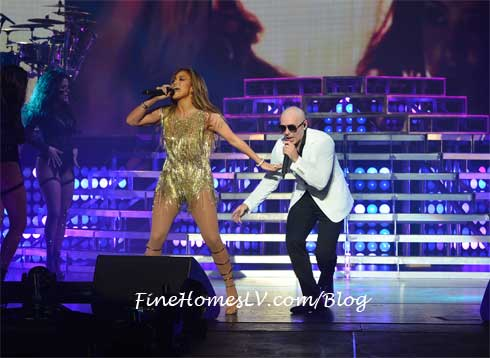JLo and PitBull at The AXIS
