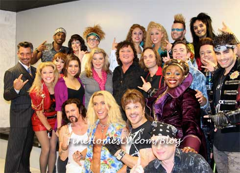 Dot Marie Jones and Rock of Ages Cast