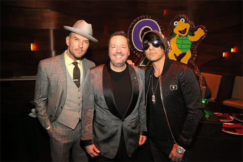 Matt Goss Terry Fator and Cris Angel