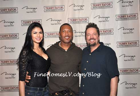 Taylor Makakoa, Gary Sheffield and Terry Fator