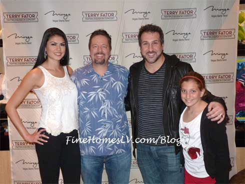 Taylor Makakoa, Terry Fator and Joey Fatone