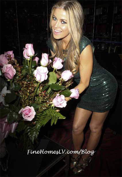 Carmen Electra with Birthday Flowers