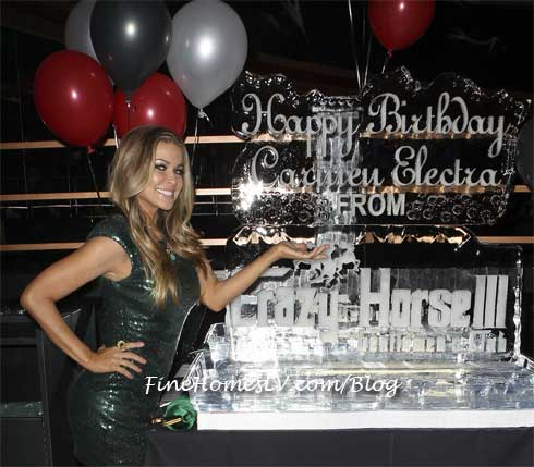 Carmen Electra With Ice Sculpture