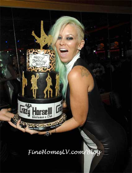 Jenna James with Birthday Cake