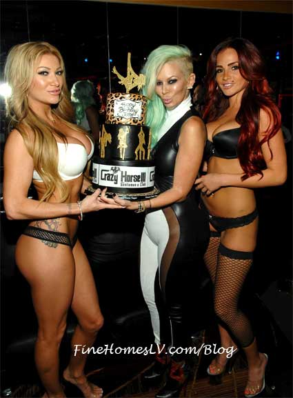 Jenna James With Birthday Cake Girls