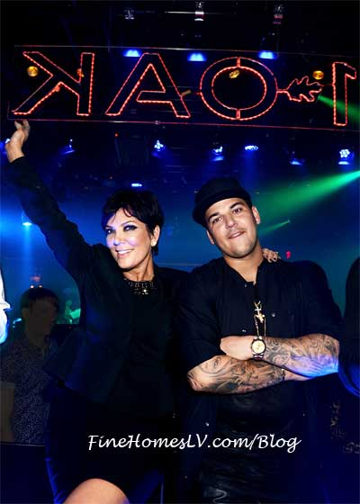 Rob Kardashian and Kris Jenner at 1OAK