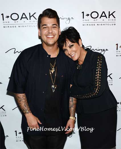 Rob Kardashian and Kris Jenner at 1 OAK
