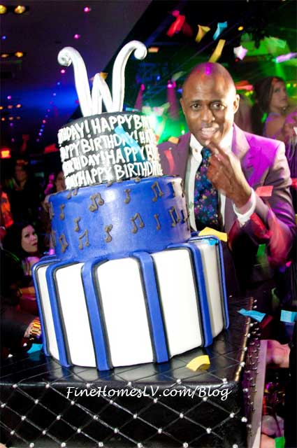 Wayne Brady and Birthday Cake