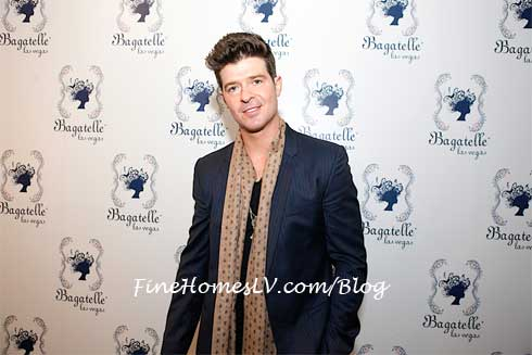 Robin Thicke at Bagatelle Las Vegas