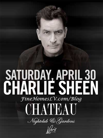 Charlie Sheen at Chateau Nightclub