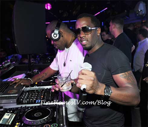 P Diddy at Chateau Nightclub