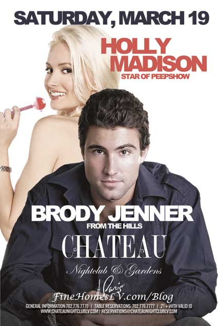 Holly Madison and Brody Jenner at Chateau Nightclub