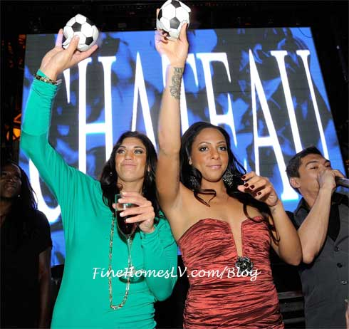 Hope Solo and Sydney Leroux