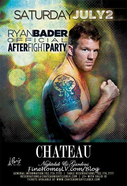 Ryan Bader at Chateau Nightclub