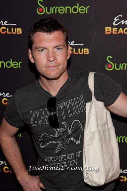 Sam Worthington at Encore Beach Club