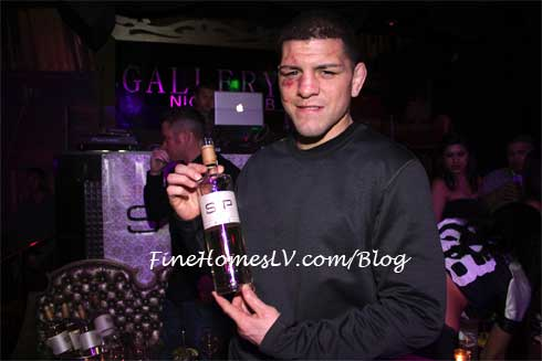 Nick Diaz with SIP Moscato