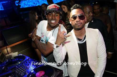 Miguel and DJ Ruckus at Hakkasan