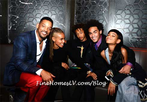 Will Smith, Jada, Jaden, Trey and Willow