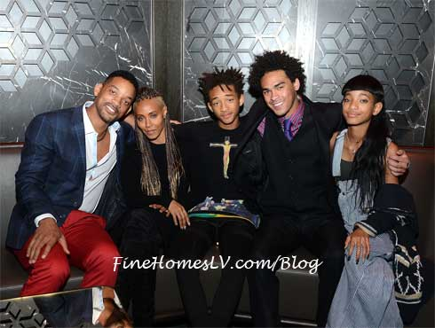 Will Smith, Jada, Jaden, Trey, Willow