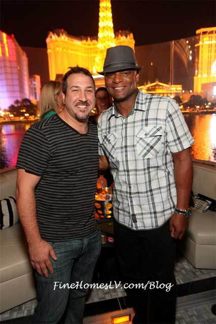 Joey Fatone and Warren Moon at Hyde Bellagio