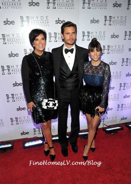 Kris Jenner, Scott Disick and Kourtney Kardashian at Hyde
