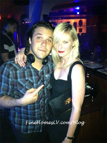 Kirsten Dunst and DJ Digital