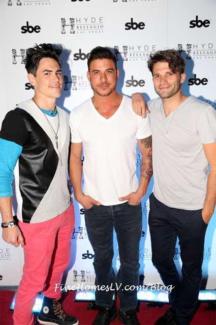 Tom Sandoval, Jax Taylor and Tom Schwartz at Hyde Bellagio Las Vegas