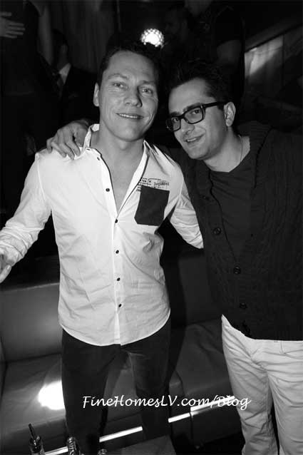 Tiesto and Antonio Esfandiari at Hyde Bellagio