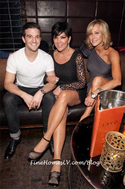 Mark Ballas, Kris Jenner and Lara Spencer