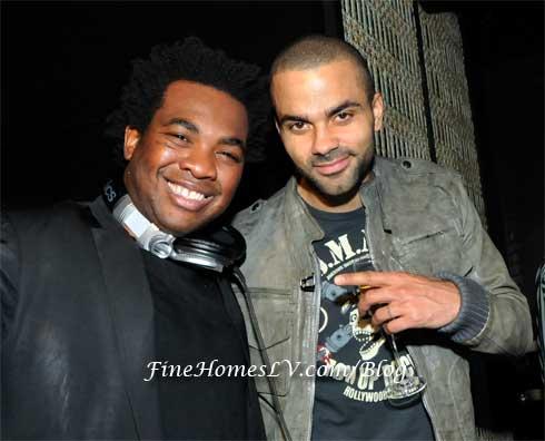 DJ Reach and Tony Parker